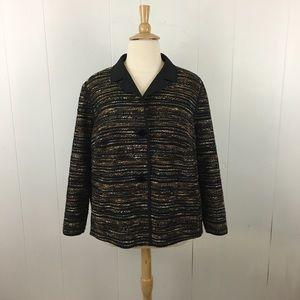 Lafayette 148 Tweed Button Down Blazer Jacket